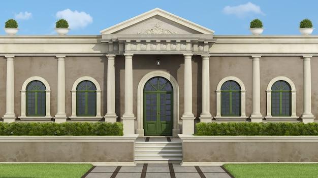 Neoklassizistische villa mit garten