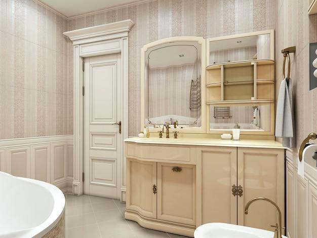 Neoklassizistischer stil des badezimmers