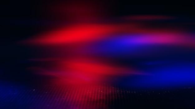 Neon abstrakte lichtstrahlen auf einem dunklen hintergrund. lichteffekt, lasershow, oberflächenreflexion. ultraviolette strahlung, nachtclub.