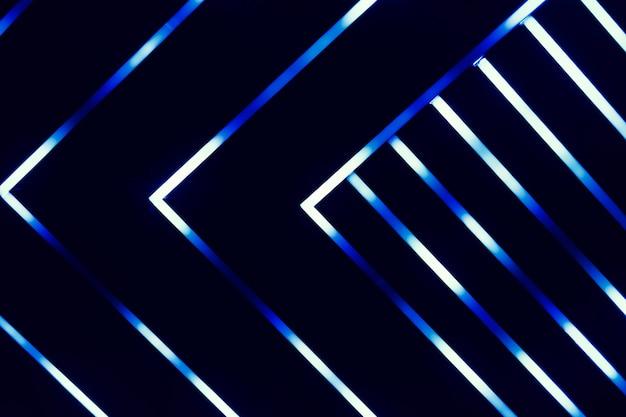Neon leuchtende linien blau