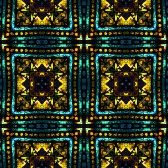 Neon-schwarz-grün-vintage-mode. volks-geo-ornament. geometrische stickerei.