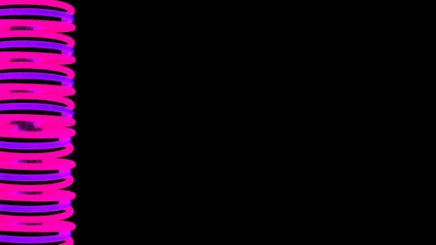 Neonhintergrund des rosa und purpurroten strudels