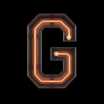 Neonlicht-alphabet g