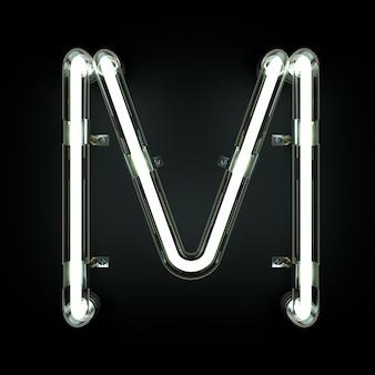 Neonlicht alphabet m