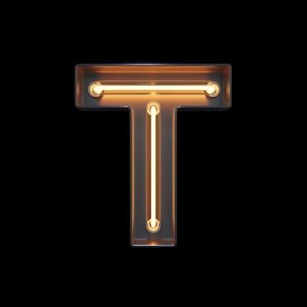 Neonlicht alphabet t