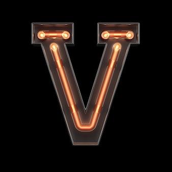 Neonlicht-alphabet v