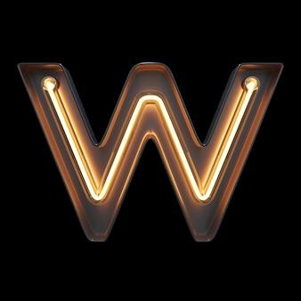 Neonlicht alphabet w