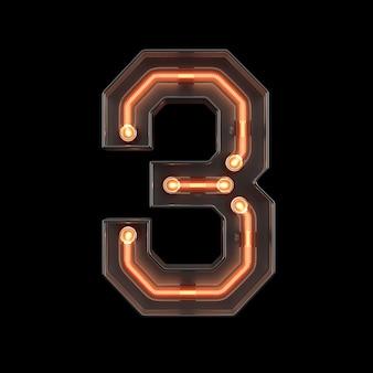 Neonlicht nummer 3