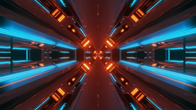 Neonlichter in verschiedenen formen