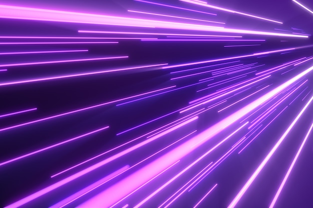 Neonrosa blaue lichtstreifen