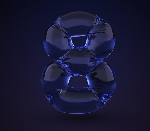 Neonwasser nummer 8.