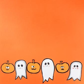 Nette charaktere für halloween-dekor