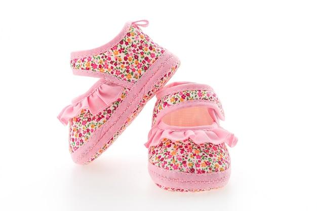 Nette rosa baby-schuhe