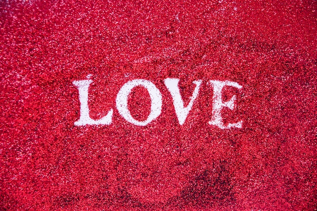 Nettes liebesschreiben in glitter
