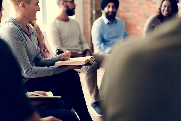 Netzwerk-seminar treffen ups konzept