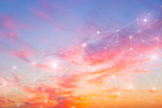 Netzwerk & wolken am himmel