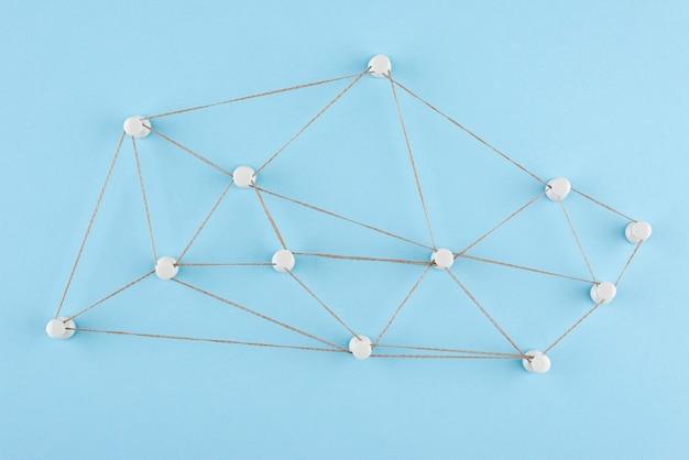 Netzwerkkonzept mit fadenflachlage