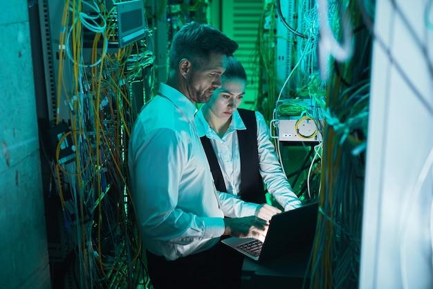 Netzwerktechniker einrichten der verbindung