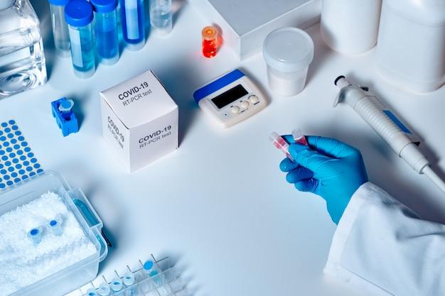 Neuartiges coronavirus 2019 ncov pcr-diagnosekit. dies ist ein rt-pcr-kit zum nachweis des vorhandenseins von 2019-ncov- oder covid19-virus in klinischen proben. in-vitro-diagnosetest basierend auf echtzeit-pcr-technologie