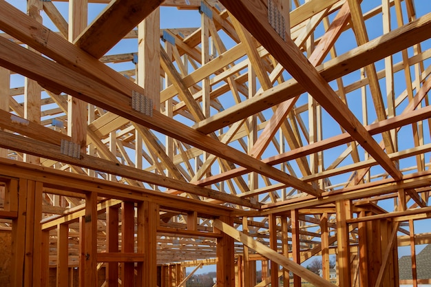 Neubau eines hauses gerahmter neubau eines wohnhauses