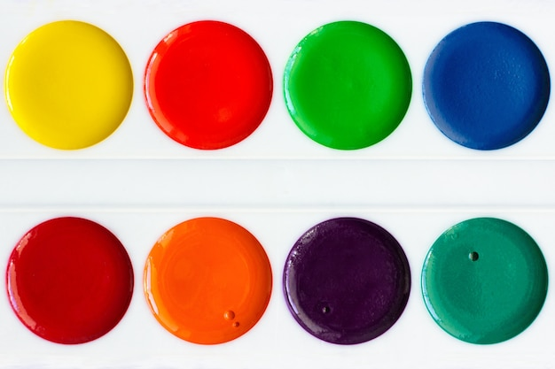 Neue aquarellfarben, nahaufnahme