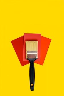 Neue auswahlvorlage für pinsel und farbe