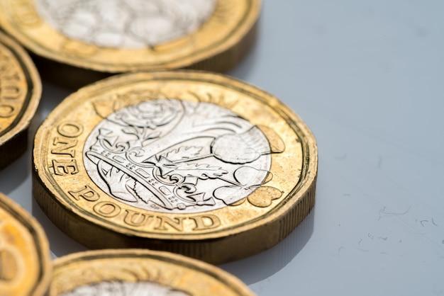 Neue britische ein-pfund-münze