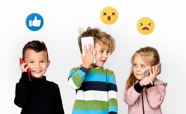 Neue generation von smartphone-benutzern