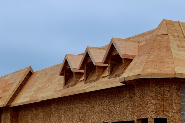 Neue häuser, die in nordamerika errichtet werden