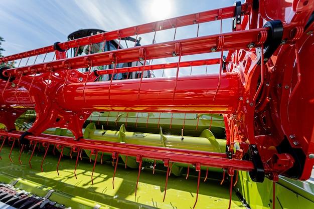 Neue moderne landmaschinen und ausrüstungsdetails