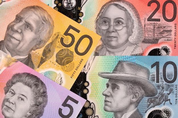 Neue reihe australische dollar, ein geschäftshintergrund