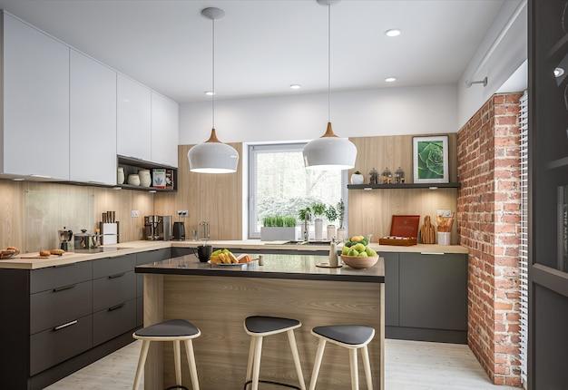 Neue stilvolle küche