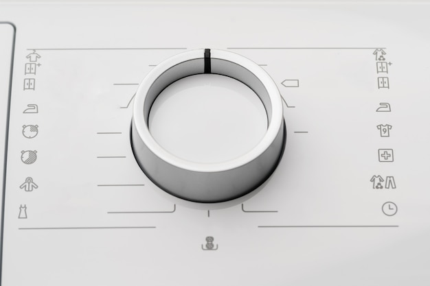 Neue waschmaschine in einem haushaltsgerätegeschäft