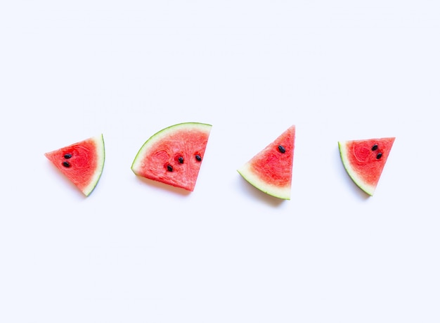Neue wassermelonenscheiben, draufsicht