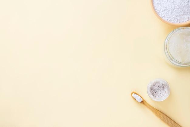 Neuer aloe vera-zahnpastahintergrund