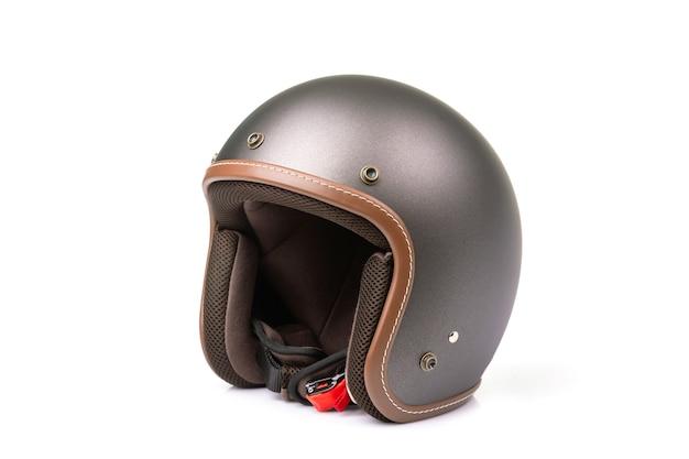 Neuer grauer vintage helm