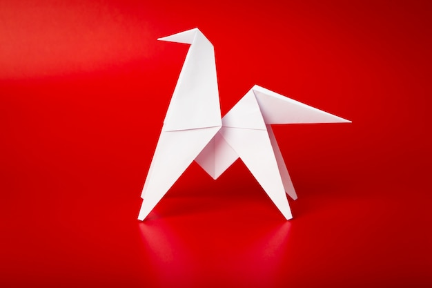 Neues jahr 2014 origami-papier pferd