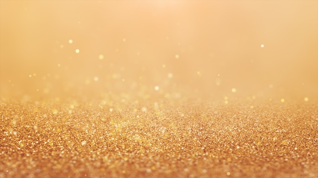 Neues jahr 2020. bokeh hintergrund. leuchtet abstrakt. frohe weihnachten hintergrund. gold glitzerndes licht. defokussierte partikel. goldene farbe. fußboden