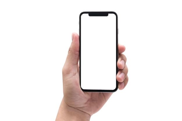 Neues telefon technologie smartphone mit leeren bildschirm