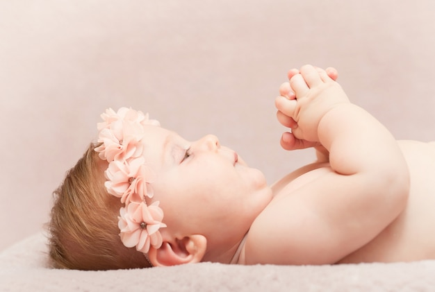 Neugeborenes feines porträt