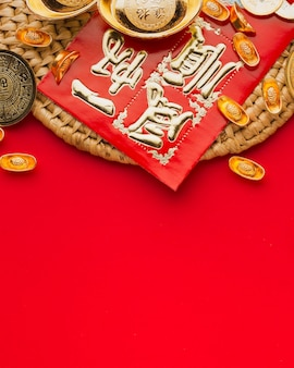 Neujahr chinesische 2021 traditionelle objekte kopieren raum