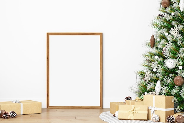 Neujahr mockup frame mockup weihnachtsmodelle