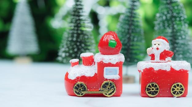Neujahr oder weihnachten präsentiert vorbereitung vorderansicht weihnachtsfeiertag