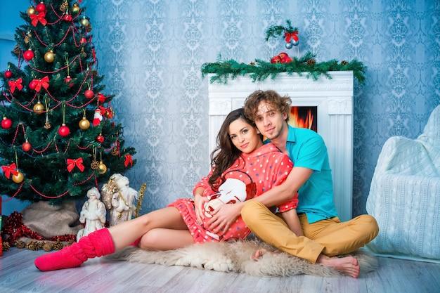 Neujahr und weihnachten im familienkreis