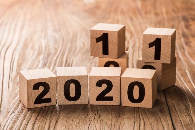 Neujahr von 2019 bis 2020