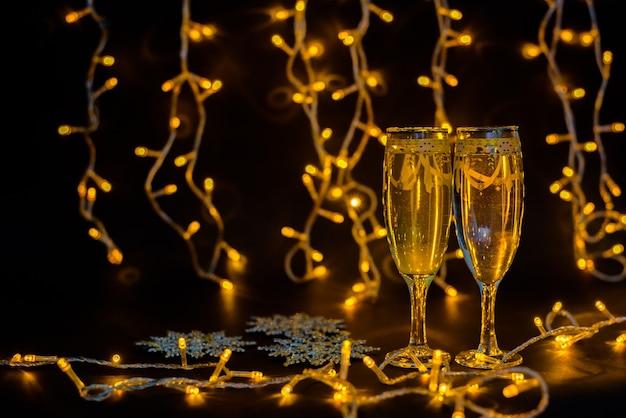 Neujahrs- und weihnachtsdekoration