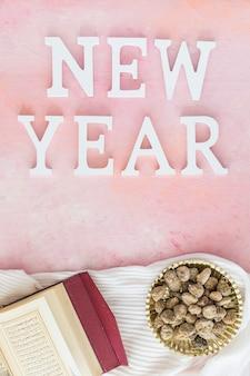 Neujahrswort mit koran und zucker