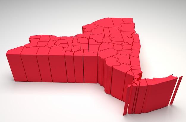 New york - 3d karte