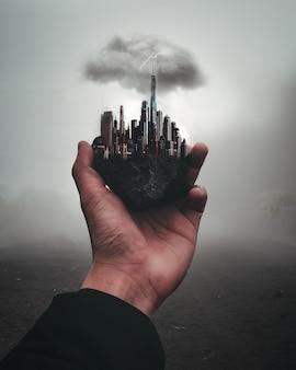 New york city in der hand