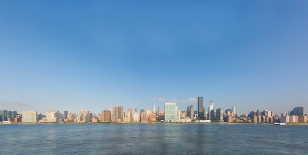 New york cityscape in den frühen morgenstunden